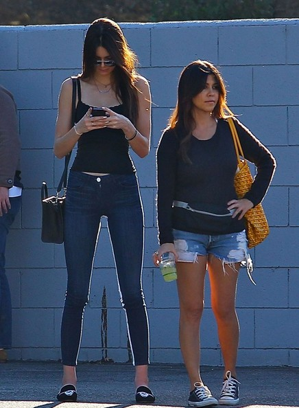Kourtney and kendall next to each other