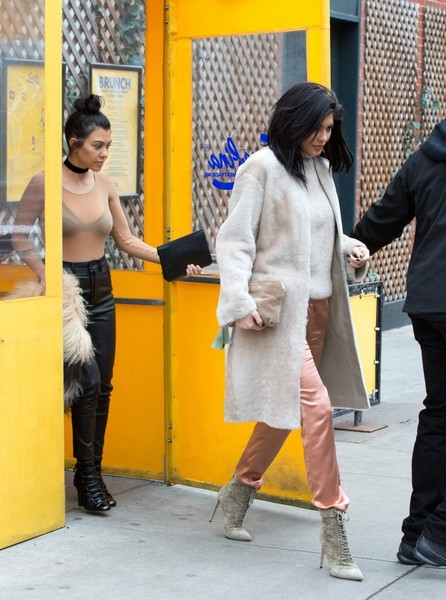 Kourtney Kardashian and Kylie Jenner Out In NYC