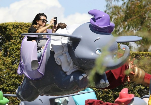Kourtney Kardashian and Scott Disick Take Their Kids to Disneyland for Her 38th Birthday
