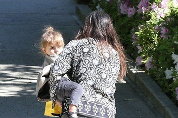 Kourtney Kardashian Kourtney Kardashian & Kids At A Birthday Party In Beverly Hills