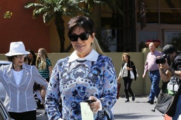 Kris Jenner Kris Jenner & Family Leaving Church On Easter