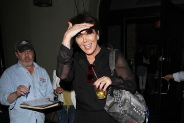 Kris Jenner Kris Jenner Enjoys a Late Dinner