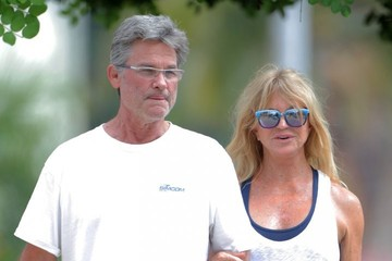 Kurt Russell Kurt Russell and Goldie Hawn Enjoy Lunch in Pacific Palisades