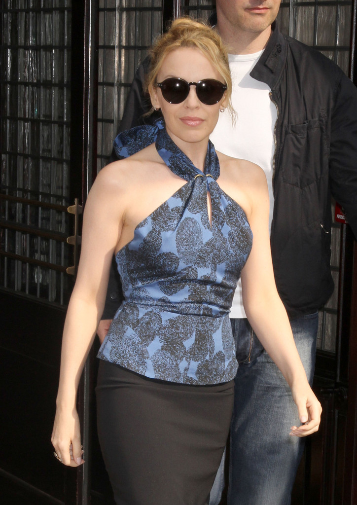 Kylie Minogue In Kylie Minogue Out In New York City