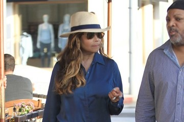 La Toya Jackson La Toya Jackson Goes Out for an Early Dinner in Beverly Hills
