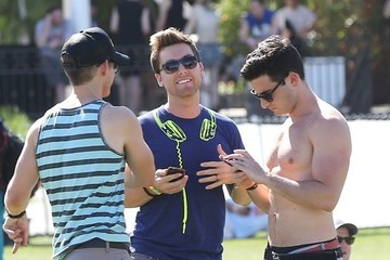Lance Bass Coachella Music Festival Day 1