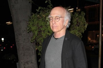 Larry David Celebrities Dine Out At Madeo