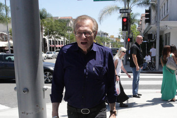 Larry King Larry King Out in Beverly Hills