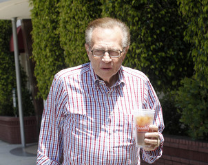 Larry King Larry King Does Some Light Shopping in LA