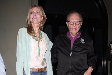 Larry King Shawn Southwick Celebs Grab Dinner at Craig's