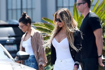 Larsa Pippen Kourtney Kardashian Visits a Studio in Culver City With Larsa Pippen