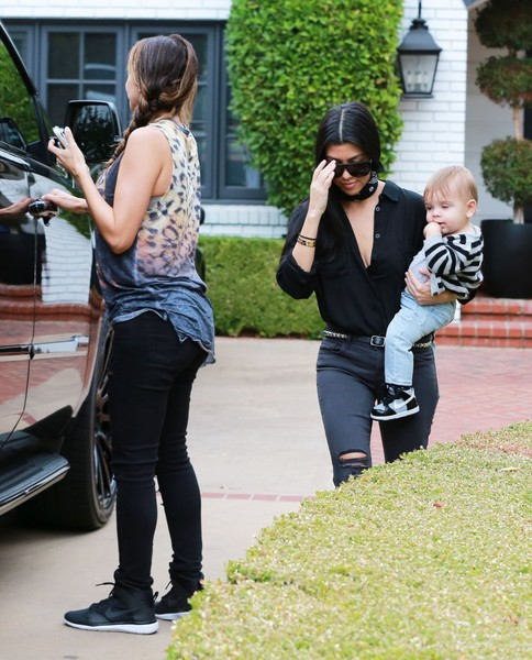 Kourtney Kardashian Gets Picked Up by Larsa Younan