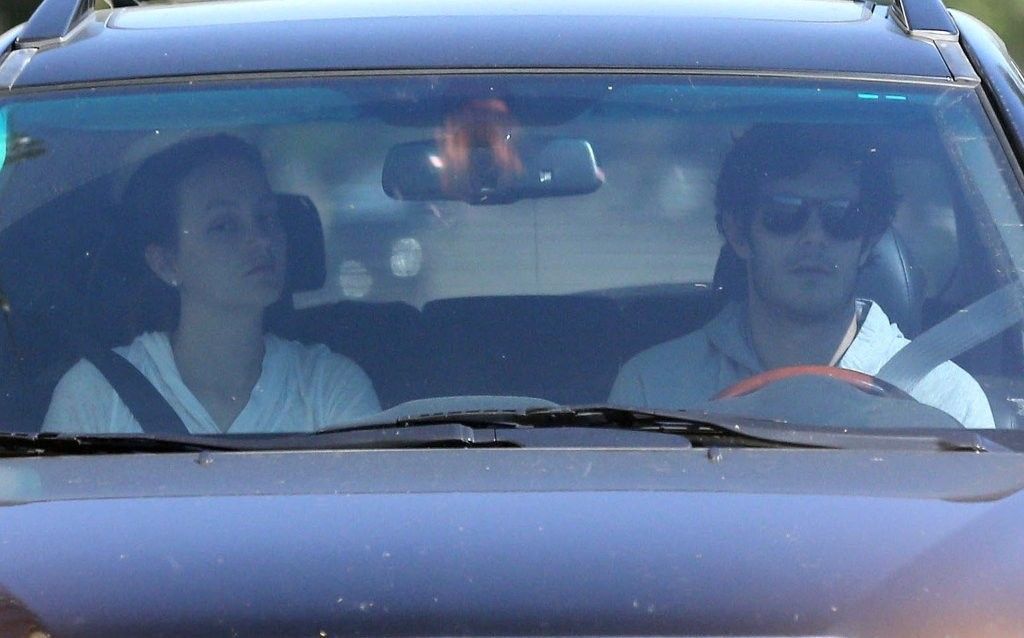Leighton Meester - Adam Brody And Leighton Meester Leaving Her House In Beverly Hills