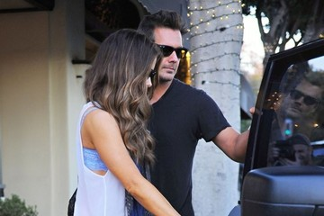Len Wiseman Kate Beckinsale Gets A Mani/Pedi In Santa Monica