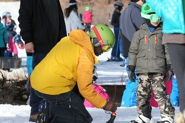 Leni Klum Seal Takes His Kids to a Skiing Class