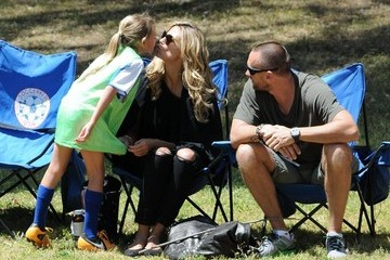 Leni Klum Heidi Klum and Martin Kristen Watch the Kids' Soccer Game