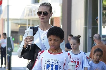 Leni Samuel Heidi Klum Takes Her Kids To Starbucks
