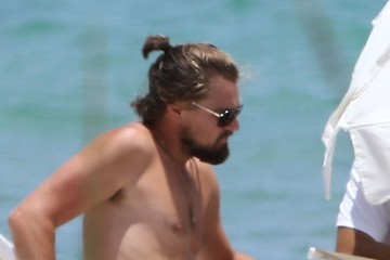 Leonardo DiCaprio Leonardo DiCaprio Relaxes On The Beach