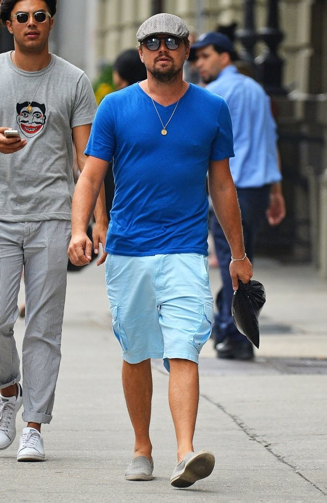 Leonardo DiCaprio Seen Out with Friends In New York City 8/1/2016