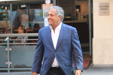 Leslie Moonves Leslie Moonves Runs Errands in Beverly Hills