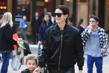 Lily Aldridge Lily Aldridge and Her Family Enjoy a Day at The Grove
