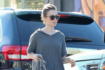 Lily Collins Lily Collins Stops By A Dry Cleaners