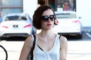 Lily Collins Runs Some Errands in Hollywood