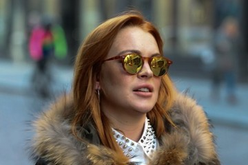 Lindsay Lohan Lindsay Lohan Is All Smiles In NYC