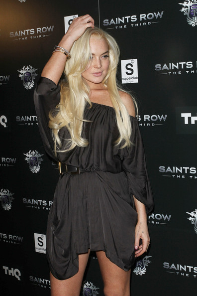 "Lindsay Lohan Celebrities attend the ""Saints Row: The Third"" Sneak Peek premiere event and concert at SupperClub in Los Angeles."