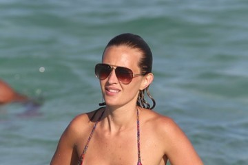 Lorelei Taron Radamel Falcao Enjoys a Day on the Beach in Miami With Family