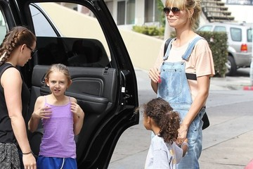 Lou Samuel Heidi Klum Watching Her Kids Play Soccer