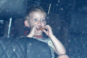 Luca Comrie Hilary Duff and Mike Comrie Take Their Son to Dinner