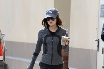 Lucy Hale Lucy Hale Makes a Morning Coffee Run