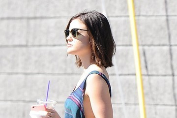 Lucy Hale Lucy Hale Stops for Coffee