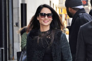 Lucy Liu Celebrities Out And About In NYC