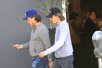 Lukas Haas Lukas Haas and Friends Grab Lunch in Beverly Hills