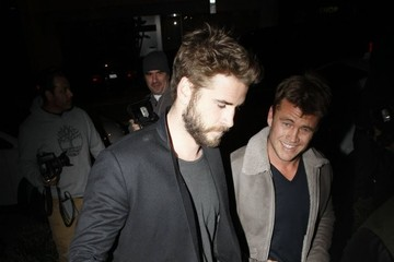 Luke Hemsworth Celebrities Go out for Dinner at Gracias Madre