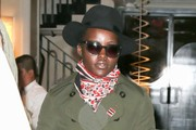 Lupita Nyong'o Stays Warm in a Green Coat in NYC