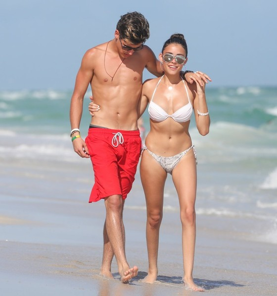 madison beer and jack at the beach