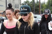 Madonna Leaves the Dance Studio