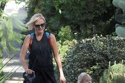 """""""Sin City Saints"""" actress Malin Akerman takes her son Sebastian for a walk on January 16, 2015 in Los Feliz, California. Malin's new costar Tom Arnold recently shamed her ex husband on the Howard Stern show. """"You know, her husband, they're together 10 years, they have a baby, [and] four months in, he's like, 'I'm done.' So she not only pays him alimony to take care of this guy, but I watched her as a mother, and I was like, 'This is the most inspiring woman. I'm not gonna complain about anything in my life.' Because she is incredible. She is an inspiration."""""""