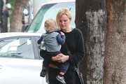 Malin Akerman Takes Her Son to Lunch