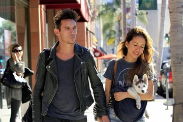 Mara Lane Jonathan Rhys Meyers Has a Day in Beverly Hills with His Fiance