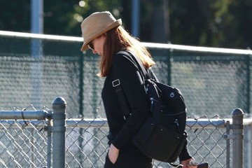 Marcia Cross Marcia Cross and Tom Mahoney Watch Their Daughter Play Flag Football