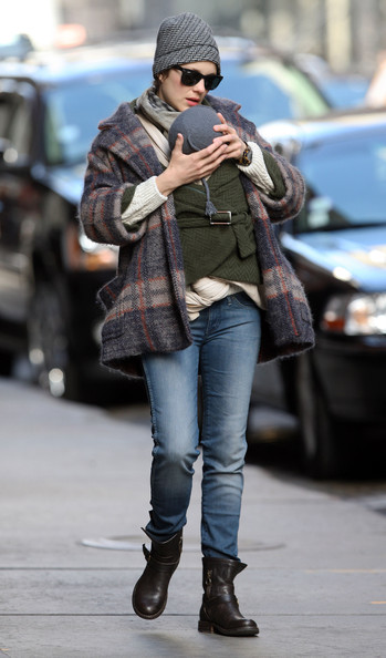 Marion Cotillard And Family Out In New York