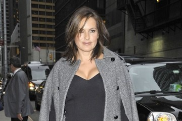 Mariska Hargitay Celebs Visit the 'Late Show with David Letterman'