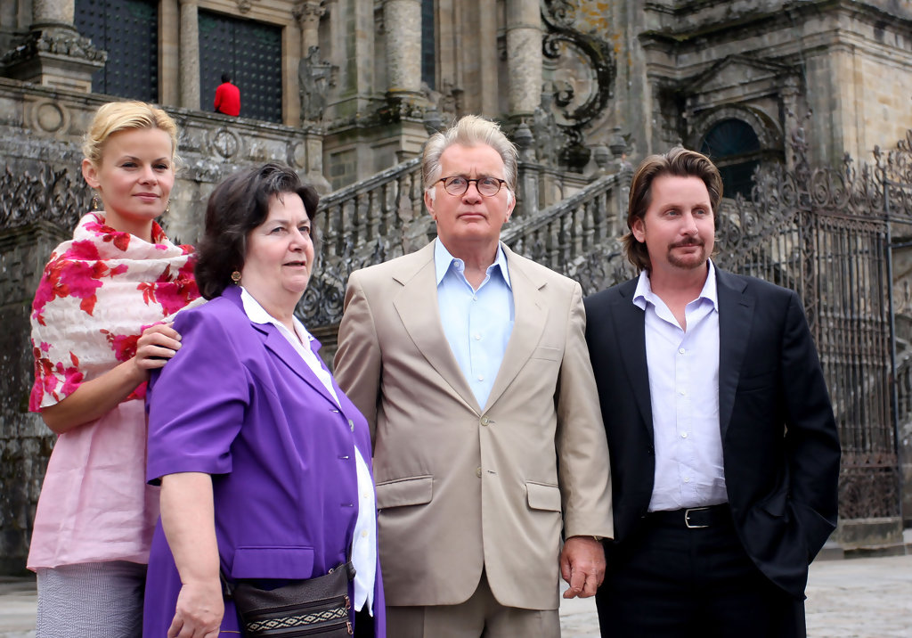 Martin Sheen, Emilo Estevez & Family Visiting Cathedral In ...