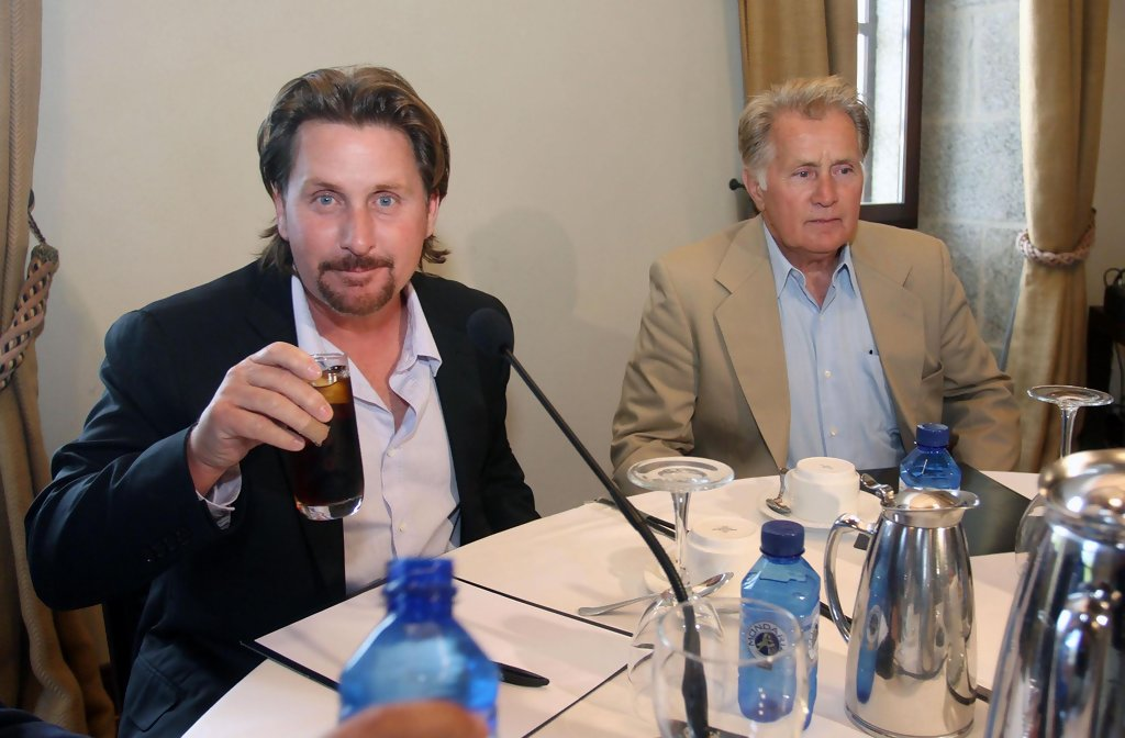 Emilio Estevez in Martin Sheen And Family At A Business ...