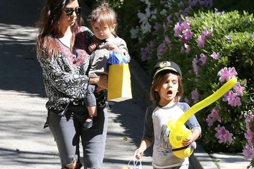 Mason Disick Kourtney Kardashian & Kids At A Birthday Party In Beverly Hills