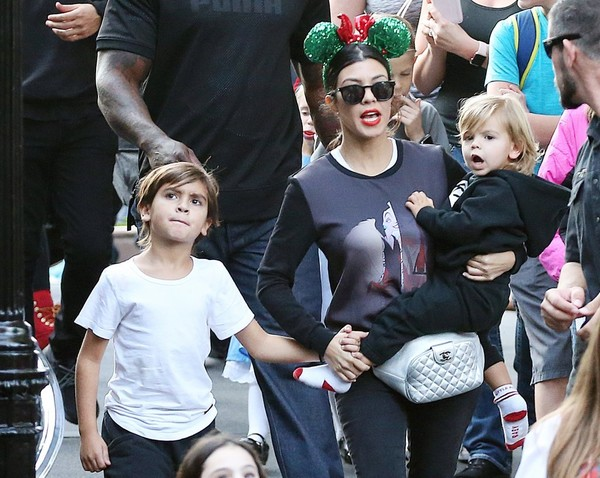 Kourtney Kardashian, Mason Disick, Reign Disick - Mason Disick and Reign  Disick Photos - Scott Disick And Kourtney Kardashian Celebrate Their Boys'  Birthday At Disney Land - Zimbio
